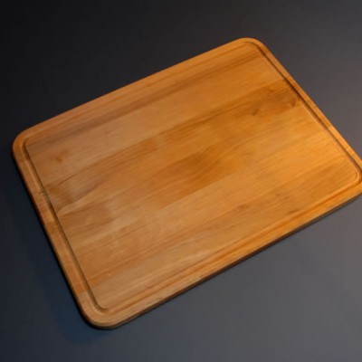 Cake board with a grease groove