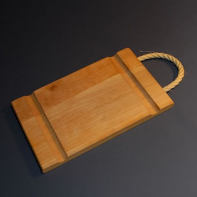 Cheese board with sisal cord