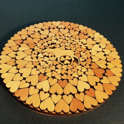 Round heat resistant board